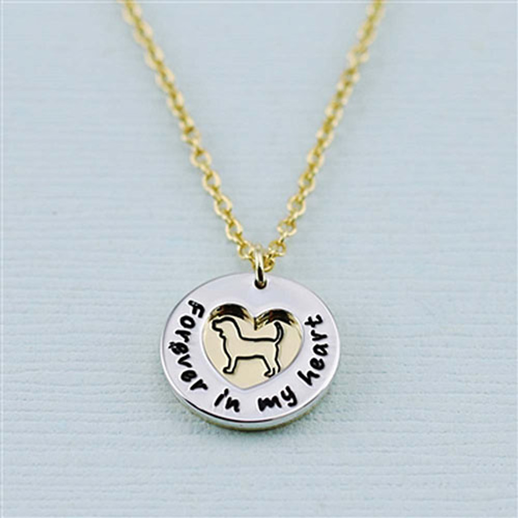 "Beagle ""Fur Baby""å Forever in Our Hearts Necklaces"