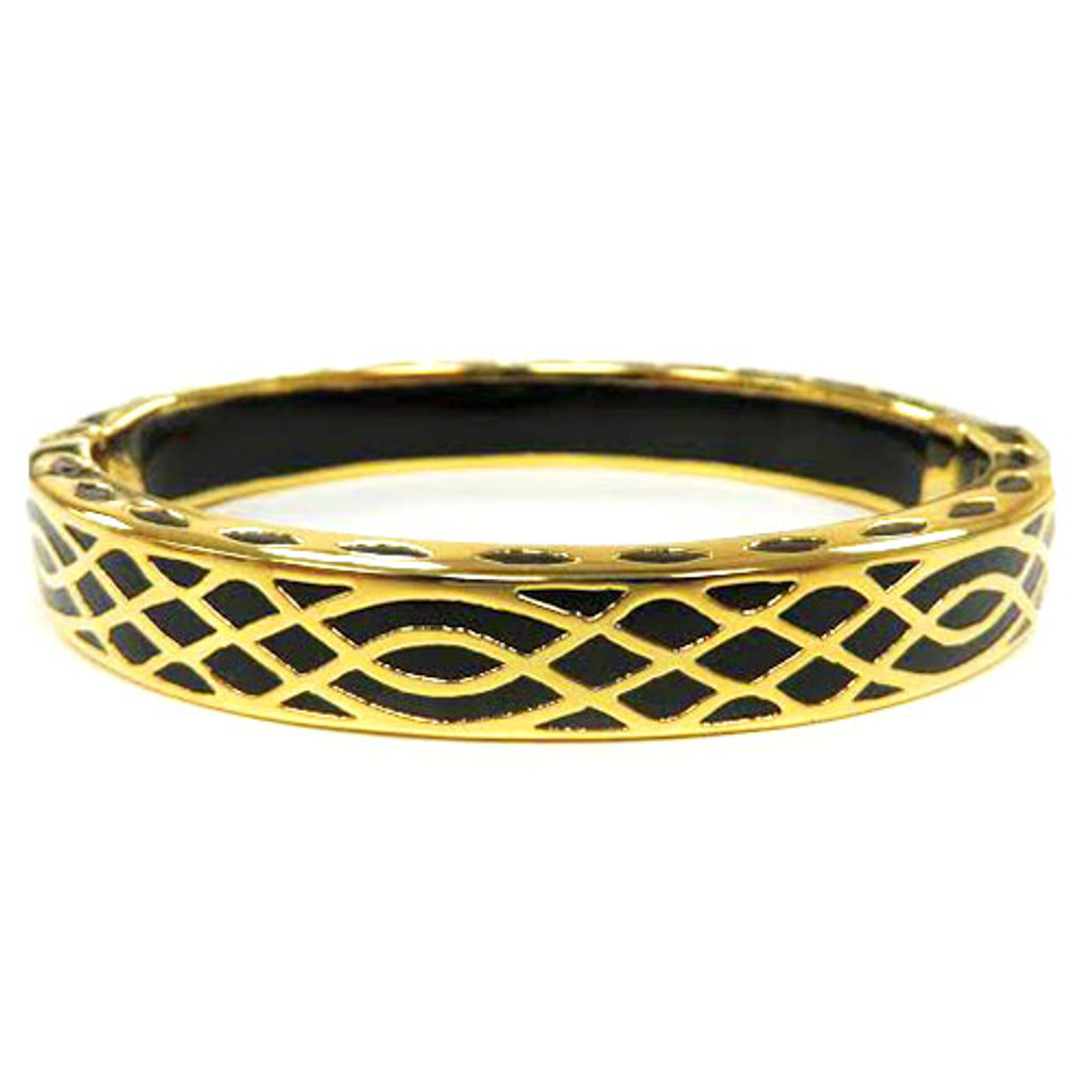 AHC's Black and Gold Infinity Bangle