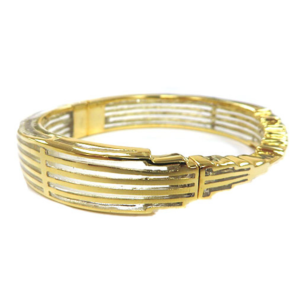 AHC's Clear Resin and Gold Empire State of Mind Bracelet