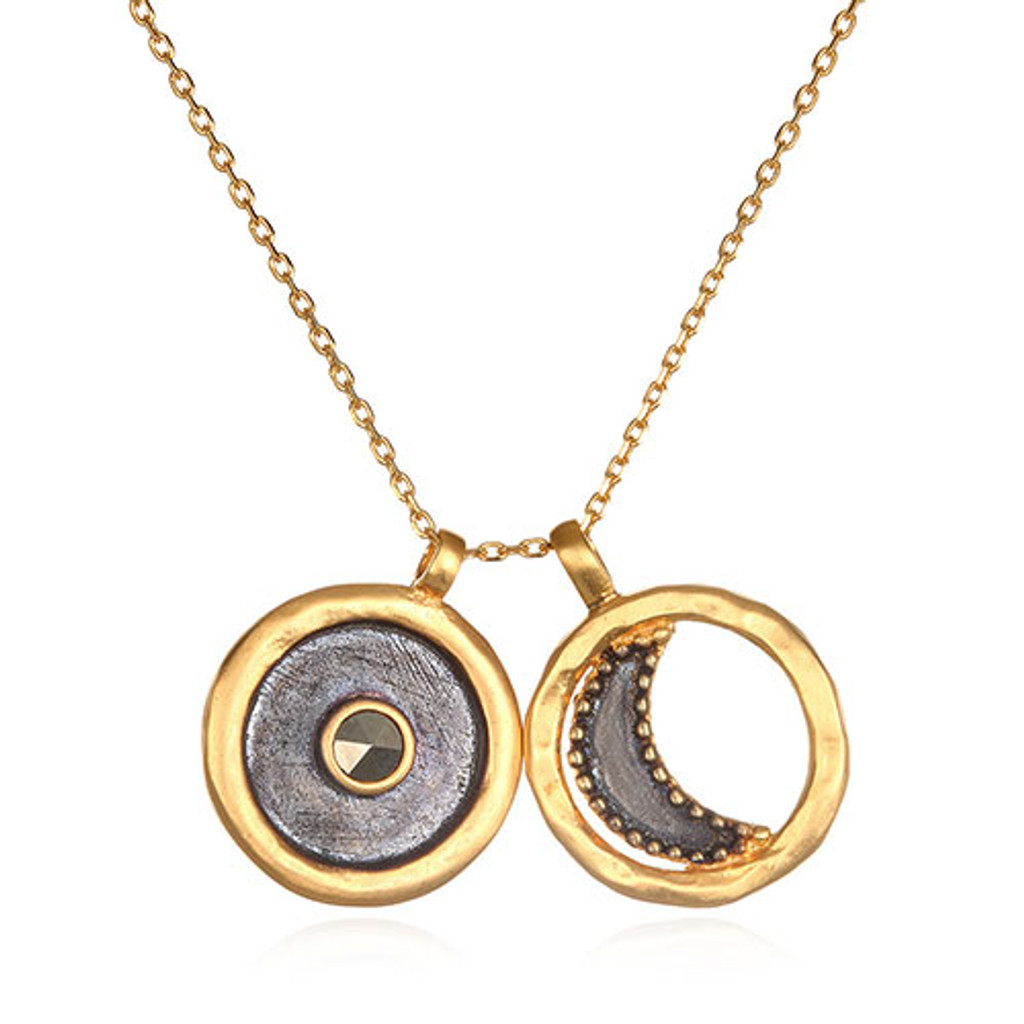 """Sun and Moon 30"""" Necklace"""