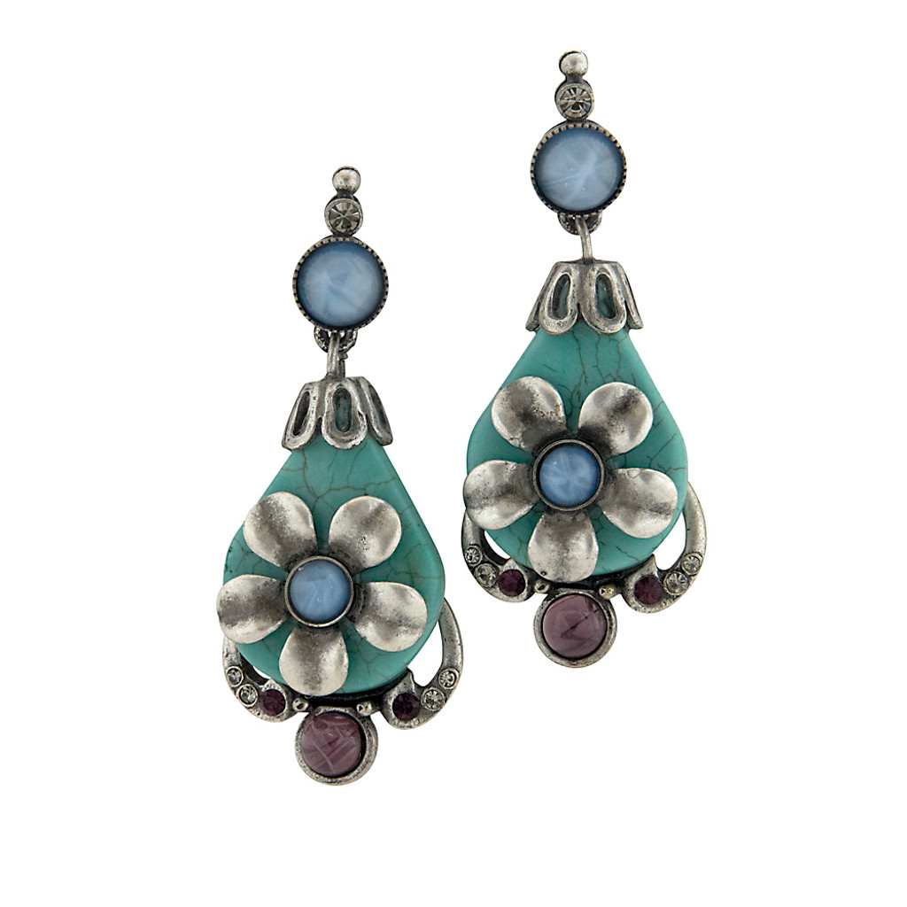 Belize Blue Vacation Earring