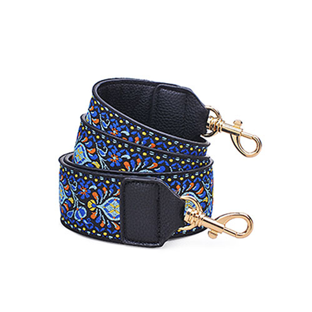 Boho Hippie Blue Woven Handbag Strap in Blue