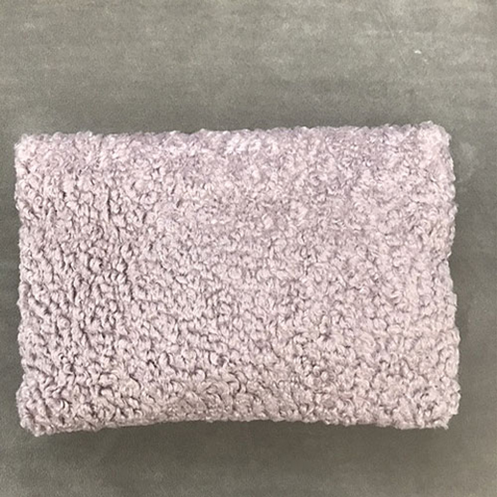 Soft Curly Wool Fold Over Clutch Blush