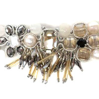 Crystals and Lace Bracelet