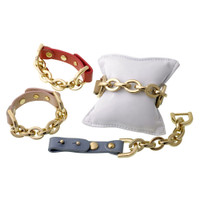 Leather and Chain Bracelet