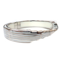 AHC's Clear Resin and Silver Empire State of Mind Bracelet
