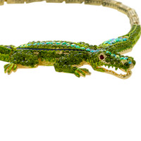Alligator Crystal Statment Necklace