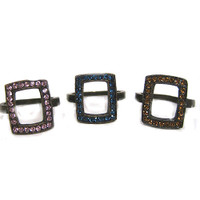 Open Rectangle Oxidized Ring