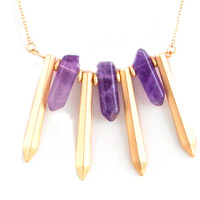 Amethyst Tiger Claw Necklace