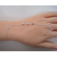 Three Crystals Silver Harness Bracelet