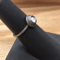 Antiqued Crystal Ring