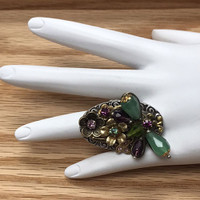Beaded Dragonfly Ring