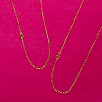 Mini Vermeil Sideways Initial Letter Necklaces