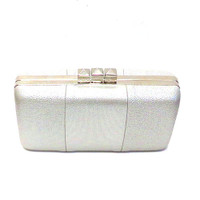 "Sondra Roberts ""Red Carpet"" Faux Leather Gold Clutch"