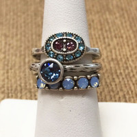Set of 3 Spring Stackable Rings 1