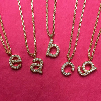 Gold Lower Case Initial Necklace