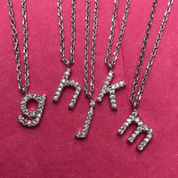 Silver Lower Case Initial Necklace