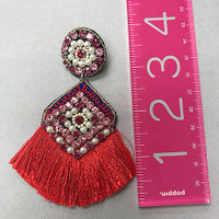 Beads and Fringe Calypso Earrings