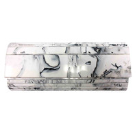 Sondra Roberts White Marble Resin Clutch