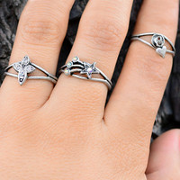Set of Three Inspirational Rings