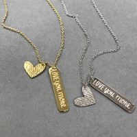 ‰ÛÏLove You More‰Û Charm  Necklace