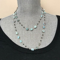 """40"""" Long Chinese Turquoise Strand"""