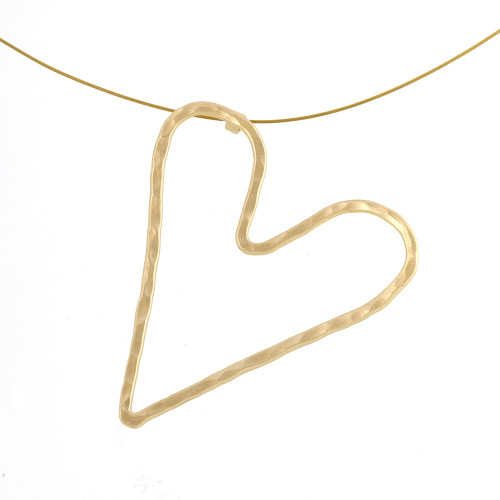Minimalist Heart Sculpture Pendant Necklace