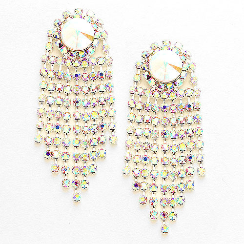 AB Crystal Waterfall Earring