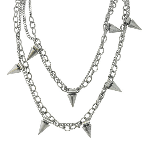 Draped Spike Necklace