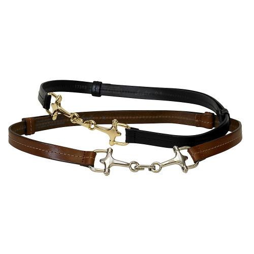 Horse Bit Leather Belt