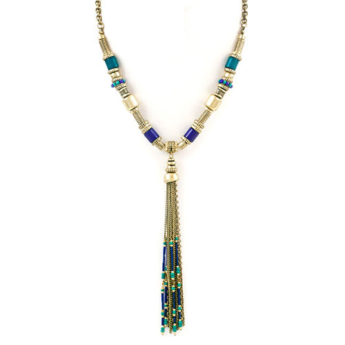 Antiqued Bronzed Beauty Tassel Necklace