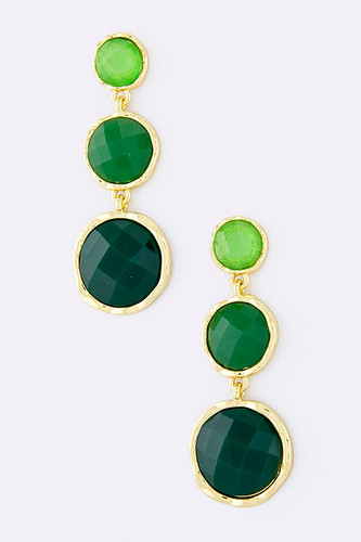 Three Stones of Envy Earring