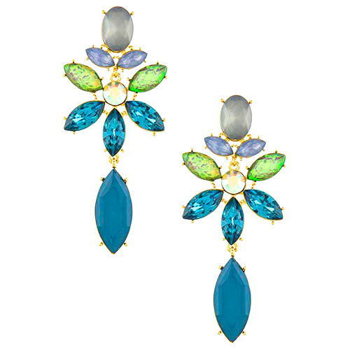 Bold in Blues Earring