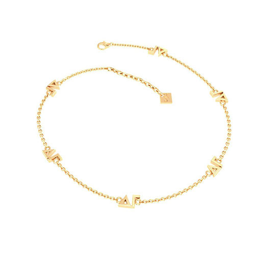 Delta Gamma Gold Plated Multi Mini Bracelet