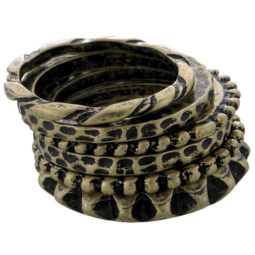 Antiqued Brass Stackable Rings