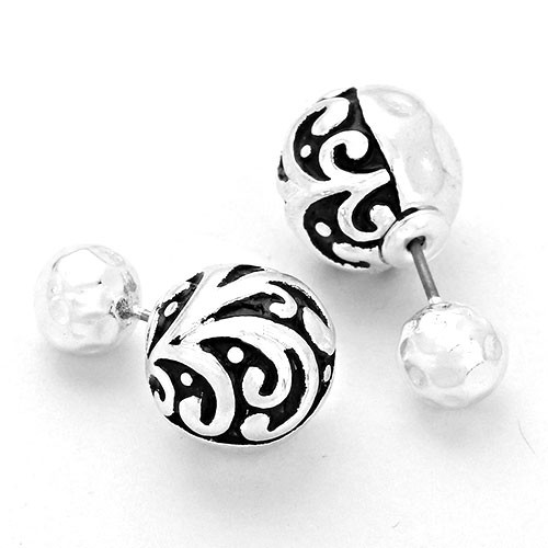 Fleur Dis Lis Designed Peek-a-Boo Earrings