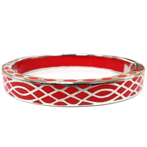 AHC's Red and Silver Infinity Bangle