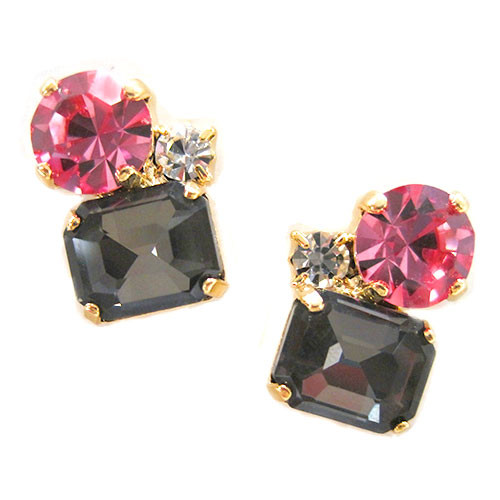 Black Diamond Trio Crystal Stud
