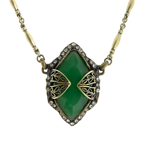 Encaged Jumbo Jade Necklace