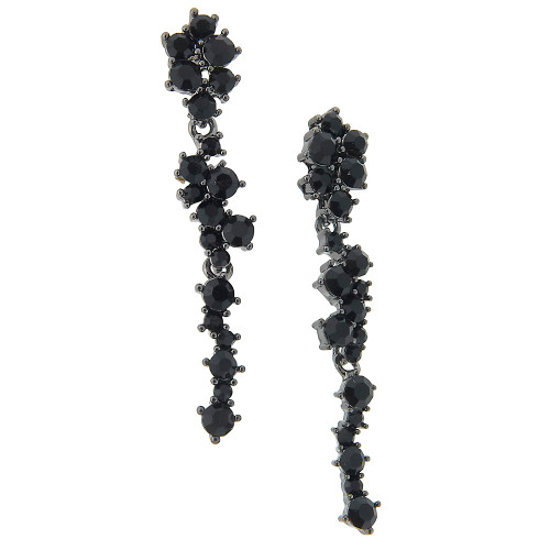 Black Crystal Chandelier Earring
