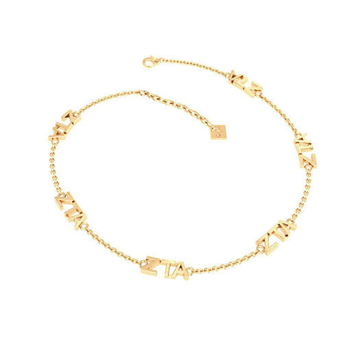 Zeta Tau Alpha Gold Plated Multi Mini Bracelet