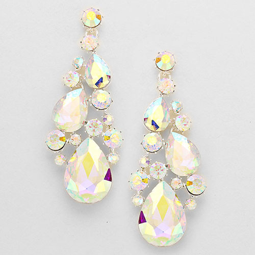"""OOO La La"" Large AB Crystal Earrings"