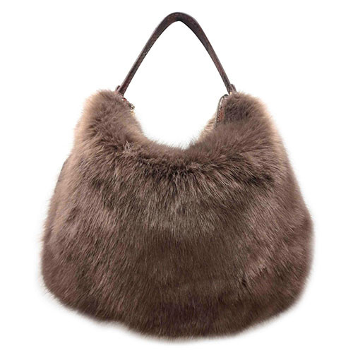 Sondra Roberts Faux Fur and Python Hobo