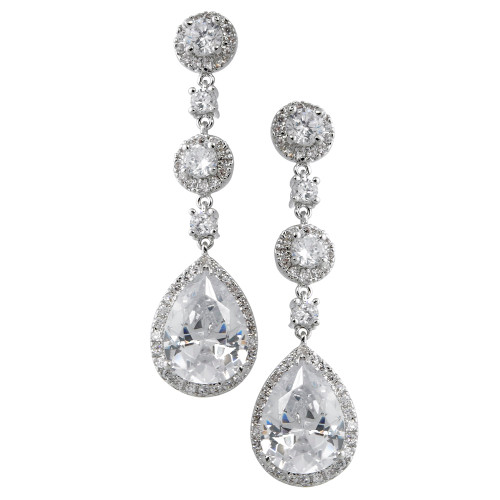 Glamorous Round Cubic Zirconia and a Large Pear Drop