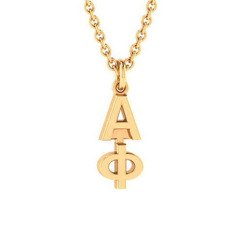Alpha Phi Gold Original Lavalier Necklace