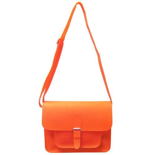 Sondra Robert's Orange Neon Jelly Cross Body Bag