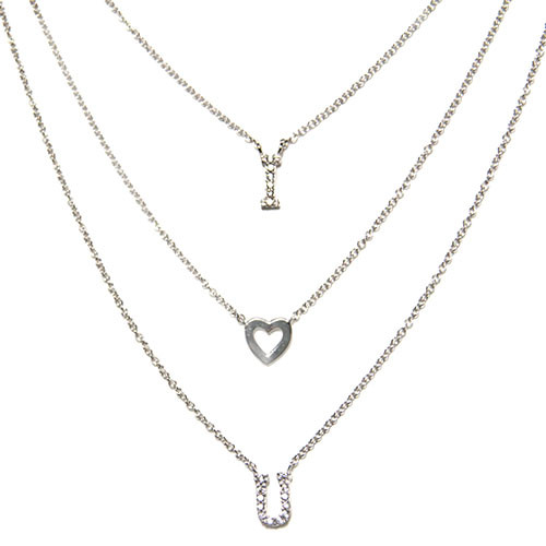"""I heart you"" Layered Necklace"