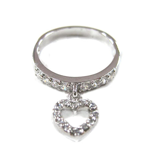 Open Pave C.Z. Heart Ring