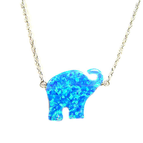 Blue Opal Resin Elephant