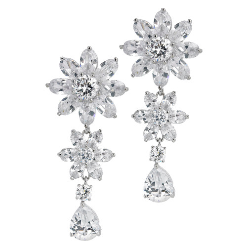 Danielle's Double Flower Drop Earrings